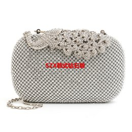 Silver Shimmer Clutch Bag Canada - New women diamonds luxurious top evening bags day clutch messenger shoulder chain handbags with acrylic mini purse wallet
