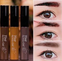 1ef180a82fb Бровей усилители оттенок мой бровей гель бренд шелушиться бровей крем для  глаз Tattos макияж 3 цвета темно-коричневый / светло-коричневый / серый DHL  ...