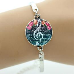 d079416936af Moda yin yang música triple onda clef pulsera encantadora nota musical  músico joyería vintage hombres mujeres regalo T610