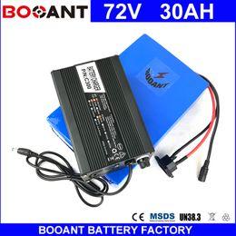 Vente en gros BOOANT E-Bike Batterie Li-ion 72V 30AH pour Bafang 3000W Moteur Vélo Électrique Batterie avec 5A Chargeur 50A BMS Livraison Gratuite