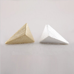 wholesale cone studs NZ - In 2016, the triangle cone compound new fashion women stud earrings lovely earrings wholesale free shipping best gift