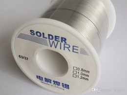 soldering wire lead free NZ - Free shipping 200g 100g 50g 1mm 63 37 Tin lead Rosin Core FLUX 2.0% Soldering Wire