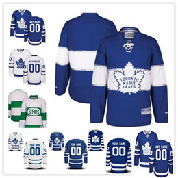 152ef0be5 Stitched Custom Toronto Maple Leafs mens womens youth White Green Home  Royal Blue 2017 Centennial Winter Classic Third Hockey Jerseys S-4XL