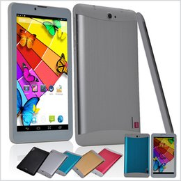Phablet Inch 3g Phone Call Canada - 7 Inch 3G Phablet Android 4.4 MTK6572 Dual Core 1.5GHz 512MB RAM 4GB ROM 3G Phone Call GPS Bluetooth WIFI WCDMA Tablet PC 706 MQ5