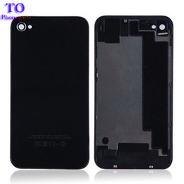Iphone 4s battery new online shopping - 10pcs New Housing Cover rear for iphone G S Back Cover Case Battery Cover Black White