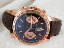 $enCountryForm.capitalKeyWord NZ - 2016 Luxury male Watches quartz Chronograph Watches rose gold case Brown leather strap original clasp mens wristwatch TJ55