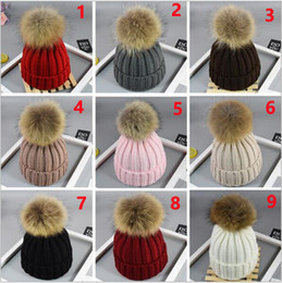 wholesale crochet hats for adults NZ - Newborn children adult INS Xmas Cute Baby Girls Hat Fur Ball Pom Cap Kids Knitted Wool Hats Caps for Beanies nouveau XT