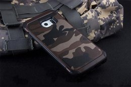 $enCountryForm.capitalKeyWord Canada - Cell phone case hybrid Tough Shockproof Rugged Camouflage Hard Cover Case for Samsung Galaxy S7 S7 plus S6 S6 Edge DHL shipping