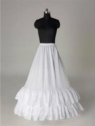 $enCountryForm.capitalKeyWord NZ - New Cheap In Stock A line Ruffled Petticoat Crinoline for wedding dress prom dress 2 Hoops Petticoat Slip Bridal Accessories CPA205