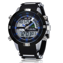 5d3f6ed1aa Top Sale 2016 Weide Digital Quartz Fashion men Wristwatches Rubber band  Blue dial LCD Military Cool Male Watches clocks relogios masculino