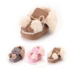 $enCountryForm.capitalKeyWord Canada - Infant boots baby soft bottom plush warm snow boots boy girl pompon lace-up BOWS first walkers newborn kids winter toddler shoes boots