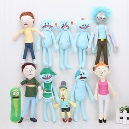 Anime Adult dolls online shopping - 11pcs Rick and Morty Season Adult Swim Cartoon Morty Summer Jerry Smith Grandpa Rick Mr Meeseeks Stuffed Plush Doll Toys