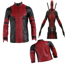 Wholesale deadpool costumes free shipping online – ideas NEW Movie COS High quality Deadpool X men Cosplay Costume Superhero Coat Custom Made Halloween Exclusive