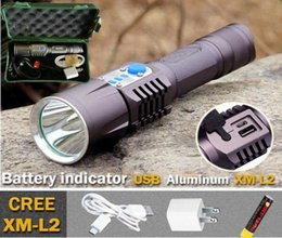 $enCountryForm.capitalKeyWord NZ - 2016 new Design Aluminum USB LED flashlight CREE XM L2 Flash Light Led Torch Lanterna LED Lantern Camping Light Hunting 18650 Battery Lamp
