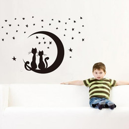 Cat Moon Wall Decal Online Cat Moon Wall Decal For Sale - Custom vinyl wall decals cats