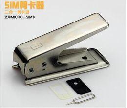 Sim Cut Cutter NZ - Sim Card Cutter Cellphone Cases Easy operating Standard or Micro SIM Card to Nano SIM Cut Cutter For iPhone 4 5 6 Plus