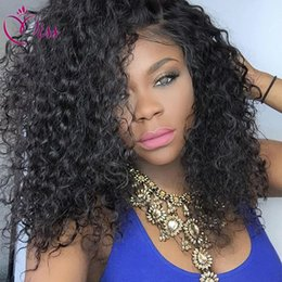 Deep Curly Indian Lace Wig Australia - Cheap Brazilian Full Lace Human Hair Wigs For Black Women Deep Curly Full Lace Wigs Glueless Full Lace Front Wigs With Baby Hair