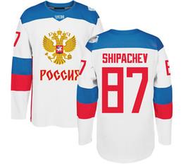 dea61750c 2016 World Cup Blank Team Russia Hockey Jerseys 90 Namestnikov 89 Nesterov  88 Vasilevkskiy 87 Shipachev 86 Kucherov 79 Markov 77 Telegin WCH