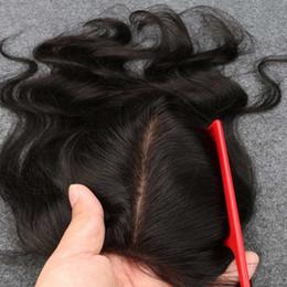 "Shed Base NZ - Slove 7A Grade No Shedding Tangle Silk Base Closure Brazilian Hair Silk base Closure Body Wave Free MIiddle 3Part 4""x4""Cheap Closures"