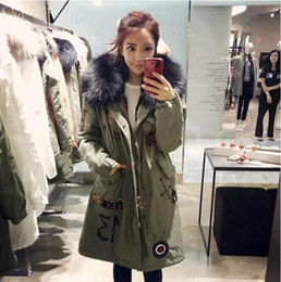 Wholesale Long Parka Canada - long design winter black fur coat collar parka beaded,large jacket beaded wholesale price