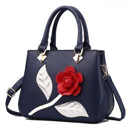 $enCountryForm.capitalKeyWord Canada - 2017 New Women Leather Handbag shoulder Bag 3D Flower Designer Handbags Women Cross Body Messenger Bags Black Ladies Fashion Tote Hand Bags
