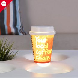 Customized Cups NZ - LED light DIY lamp cup strange new creative customized gifts manufacturers selling custom LOGO