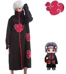 Naruto akatsuki itachi uchiha costume online shopping - Naruto Akatsuki Cloak Cosplay Costume Orochimaru Itachi Uchiha Madara Sasuke Pein Robe Costumes XS XXL