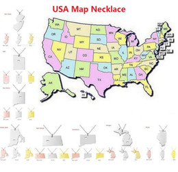 Discount Michigan State Usa Map Necklace Michigan State Usa - Michigan state usa map