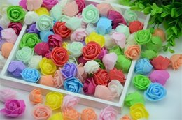 foam rose heads white NZ - 500pcs lot Mini PE Foam Rose Flower Head Artificial Rose Flowers Handmade DIY Wedding Home Decoration Festive & Party Supplies