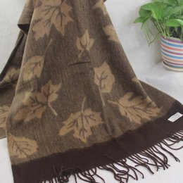 beachwear wraps NZ - New soft cashmere scarf ladies shawl wrapped woman 70X200CM 100% cashmere oversized four-layer fashion jacquard Brown Khaki 150