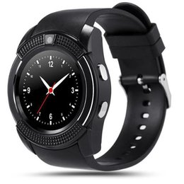 Discount smartwatch dhl - 2016 V8 Smart Watch Bluetooth Watches with 0.3M Camera MTK6261D Smartwatch for android phone Micro Sim TF card DHL Free