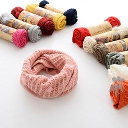 fd963da7a56 Fashion 2017 Autumn Winter New Children Scarves soft boys girls Scarf  knitting wool Kids Scarf warm Toddler Scarves baby Ring Scarf A1310