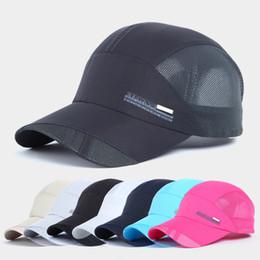 Gorra de béisbol de deporte unisex sombrero de golf de malla de secado  rápido gorro de 42500422713