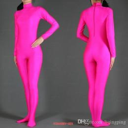 $enCountryForm.capitalKeyWord Australia - 2016 hot sale Pink Lycra Spandex Zentai Suit full body Halloween Women Fancy Costumes,Free Shipping