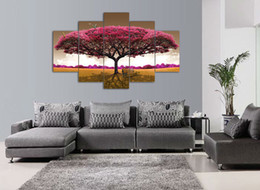 Good High Quality Modern Printed On Canvas Big Tree Painting For Living Room  Decoration 5pcs Set Wall Decor Canvas Prints Affordable Big Painting For Living  Room
