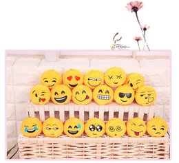 Video games for small kids online shopping - Key Chains cm Emoji Smiley Small pendant Emotion Yellow QQ Expression Stuffed Plush doll toy for Mobile bag pendant