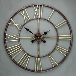 big oversized vintage wrought iron wall clock retro large wall clocks 3d saat creative relogio parede reloj de pared klok