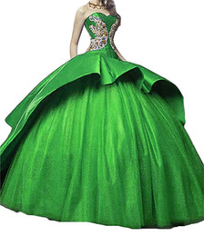 Coral quinCeanera dresses sweet 16 online shopping - 2017 Newest Sweetheart Satin Ball Gown Quinceanera Dresses with Appliques Lace Up Sweet Dress Debutante Gowns QC505