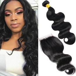 $enCountryForm.capitalKeyWord NZ - 3 Bundles Body Wave Hair Weaves With Closure Real Human Hair Extensions Unprocessed Body Wave Weave Styles Cheap Brazilian Hair Bundles