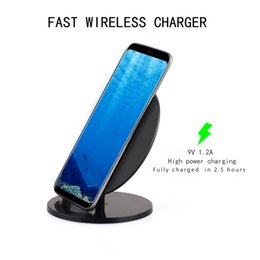 $enCountryForm.capitalKeyWord NZ - 10W Qi Stand Wireless Charging Wireless Charger Universal for iPhone X 8 Plus for Samsung Note 8 S8 S8 Plus Retail Packing