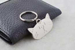 $enCountryForm.capitalKeyWord Canada - FREE SHIPPING BY DHL 100pcs lot 2016 New Zinc Alloy Cat Head Keychains Novelty Metal Keyrings Gift