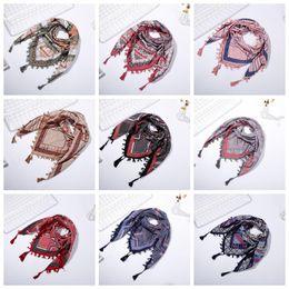 $enCountryForm.capitalKeyWord Canada - women designer Scarf square scarves tassel floral Printed Women cotton Wraps Winter autumn ladies shawls YYA437