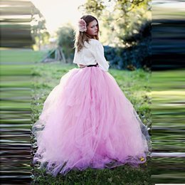 Dame Personnalisée Pas Cher-Pink Long Autumn Tulle Jupe Couches Une Ligne Yong Femmes Femmes Jupe Custom Made Homecoming Party Gowns Formal Wear