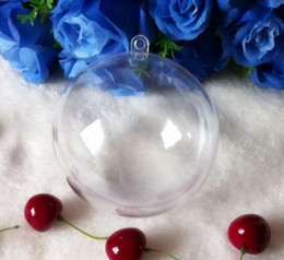 Clear Balls Australia - High Quality 10 cm diameter Clear Christmas Hanging Ball Ornament Wedding Candy Gift Decoration Ball Free Shipping