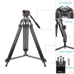 dslr camera professional NZ - JY0508A 1.5m Foldable Telescoping Aluminum Alloy DSLR Camera Camcorder Video Tripod with Fluid Drag Head Padded Bag