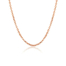 $enCountryForm.capitalKeyWord NZ - Top Quality Rose gold Plated Link Chain Necklace Fashion Titanium steel 0.5 0.6mm width Short clavicle Necklace for Women Men Wholesale