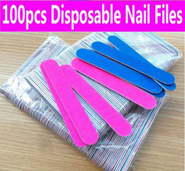 $enCountryForm.capitalKeyWord Canada - 200pcs set Professional Nail Art Double Side Emery Boards blue Sandpaper mini Nail File Buffer Block Manicure Tool