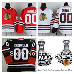 Discount clark griswold hockey jersey - 2014 New Style Clark Griswold Jersey #00 Chicago Blackhawks Ice Hockey Jerseys Finals Champions Home Road Red White Blac