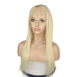 Discount 18 inch straight lace wig - 613 Blonde Full Lace Human Hair Wigs With Baby Hair Straight Brazilian Virgin Hair Natural Hairline Lace Front Wigs 10-2