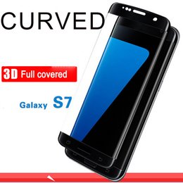 3d Color Glasses Canada - 3D tempered galsss For Samsung Galaxy S7 color 3D full covered Tempered Glass Screen Protector Guard Film 2016 hot